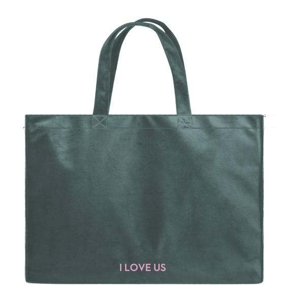 I Love Us - Velvet Shopper Bag VEBL0033