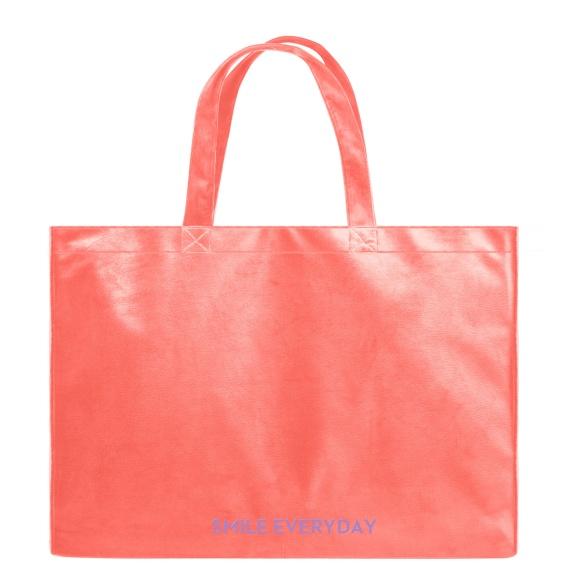 Smile Everyday - Velvet Shopper Bag VEBL0040